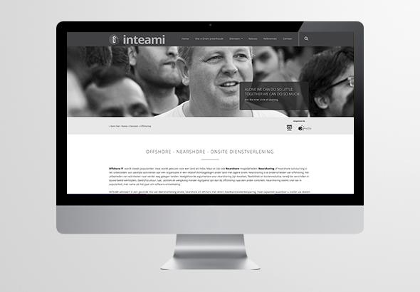 Inteami huisstijl en website