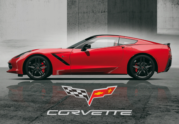 Corvette C7 advertentie