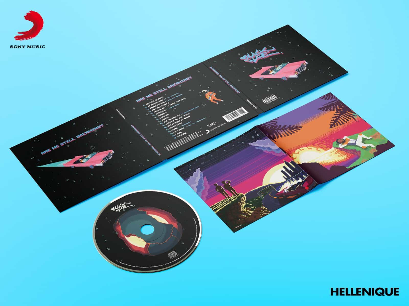 """Opmaak debuutalbum """"Are We Still Dreaming?"""" van blackwave 2"""